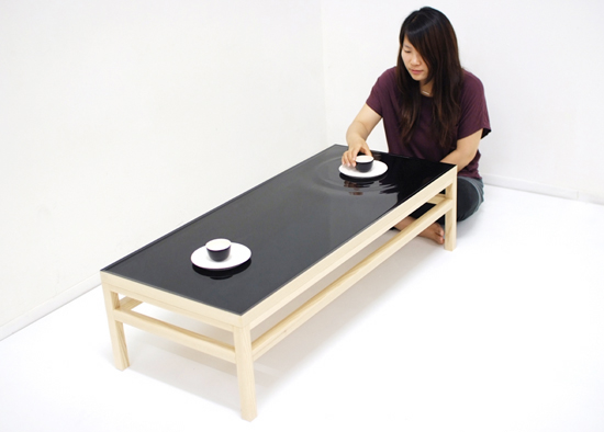 ripple effect tea table