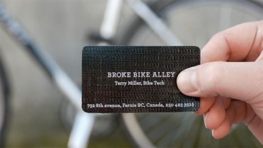 business card rethink