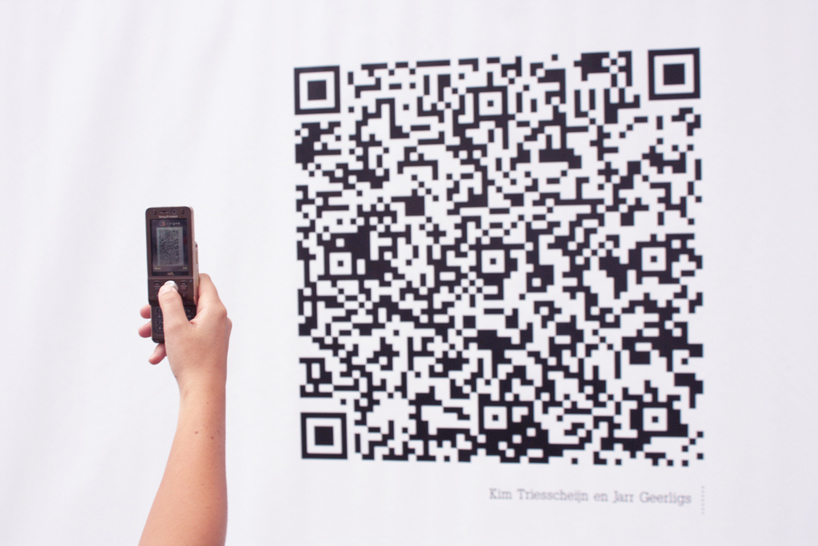 Un QR de l'exposition the QR Cloud Project