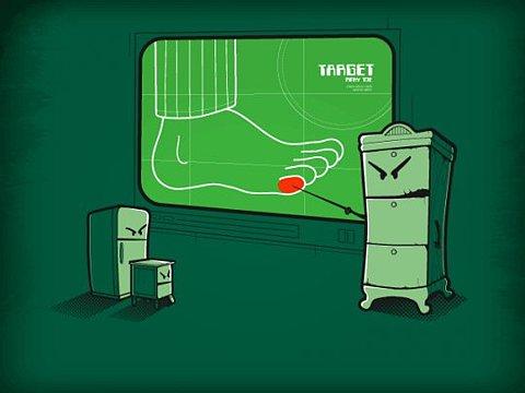 target-pied