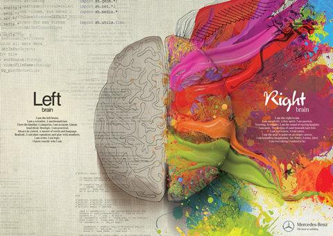 illustration creativité cerveau