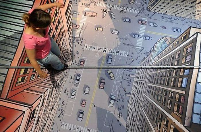 femme funambule rue dessin